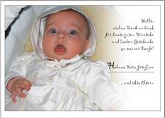 Taufkartendanksagungskarten Danksagung Dankeskarten Zur