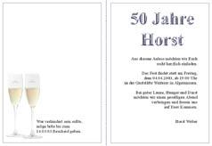 Einladung zum 50. Geburtstag | SCHÖNE Einladung ...