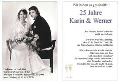 einladungskarten, einladung zur silberhochzeit - goldenen hochzeit, Einladungen
