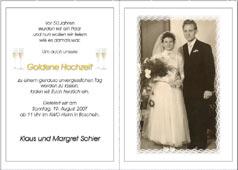 Einladungskarten, Einladung zur Silberhochzeit - Goldenen Hochzeit drucken