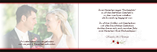 Danksagungskarten, Danksagung, Dankeskarten, Fotokarten zur Hochzeit, Silberhochzeit, Goldene ...